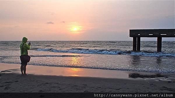大安海水浴場~2013秋天的夕陽&風吹沙 (10)