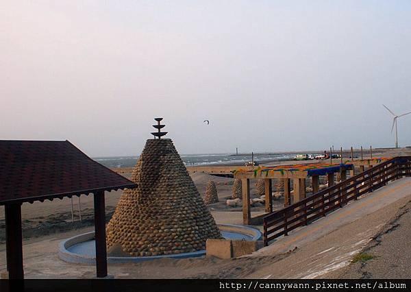 大安海水浴場~2013秋天的夕陽&風吹沙