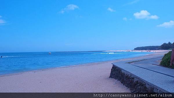 澎湖林投公園後方的沙灘