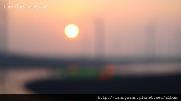 高美溼地~夕陽。印象