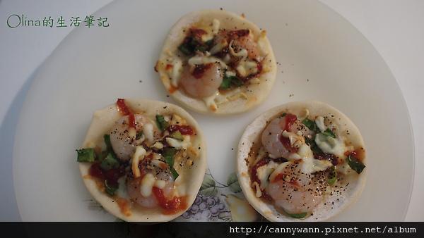 厚水餃皮做的小比薩