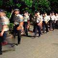 散場前,一長串的警察辛苦了