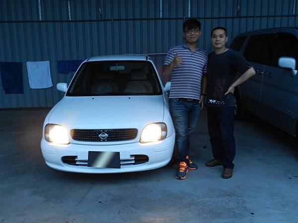 2000年Nissan 日產 March 馬曲 1.3 白 員林埔心 莊先生.JPG