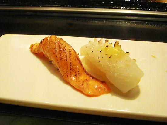 炙燒鮭魚‧炙燒花枝
