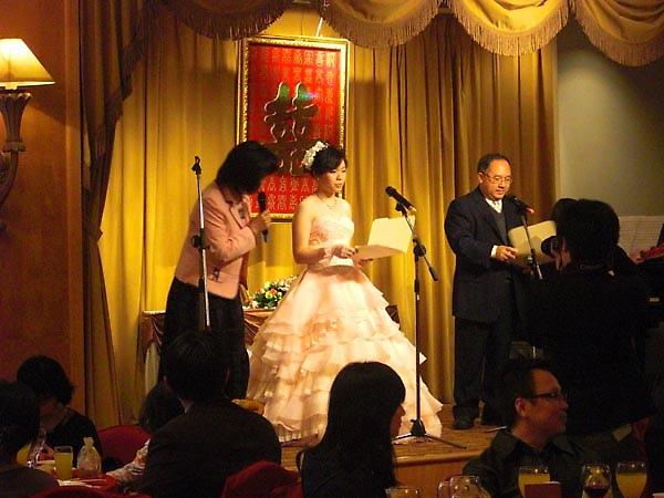 新娘親自上場表演!