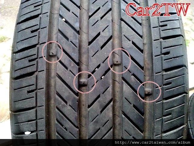 輪胎安全線(又稱輪胎指示線、胎紋安全線、輪胎磨耗指示、輪胎警戒線、輪胎指示塊、輪胎磨耗指示點等等)
