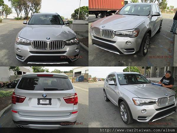 2015 BMW X3 XDRIVE28I  前後左右