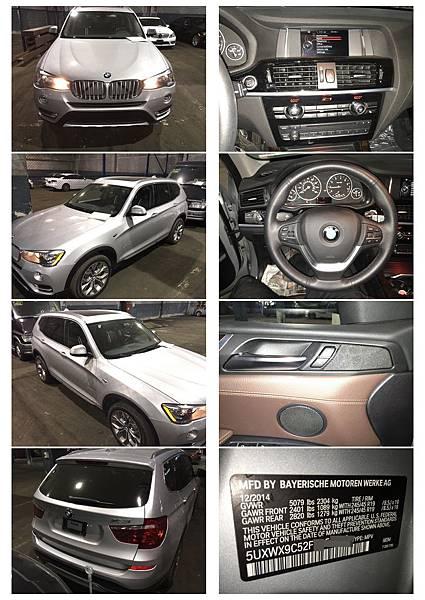 2015 BMW X3 XDRIVE28I 報關照片.jpg