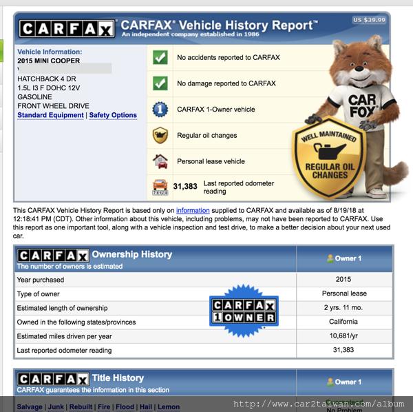 2015年Mini Cooper團購-CARFAX.png