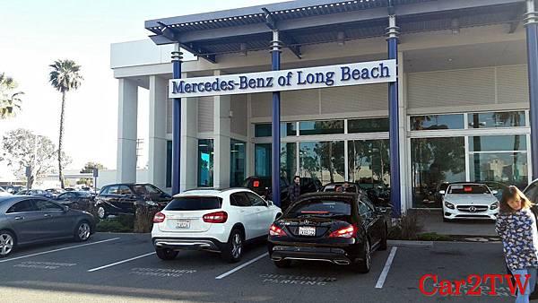 car2tw在2017年底到美國加州洛杉磯賓士經銷商Mercedes-Benz of Long Beach為客戶代購 賓士原廠認證中古車CPO進口回台灣實況圖
