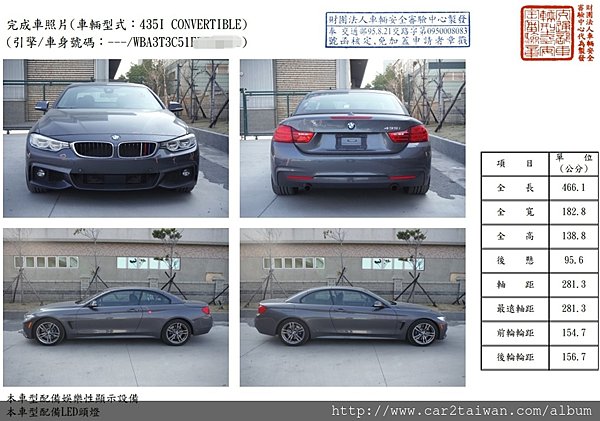 15 BMW 435i F33 convertible車測報告