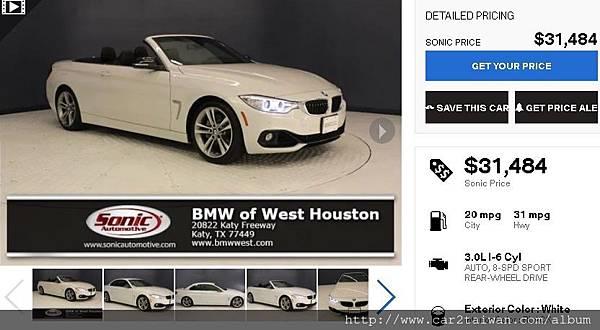 2015 BMW 435i F33 Convertible運動版團購外匯車
