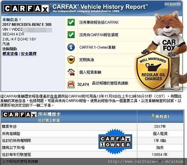 17 E300 carfax