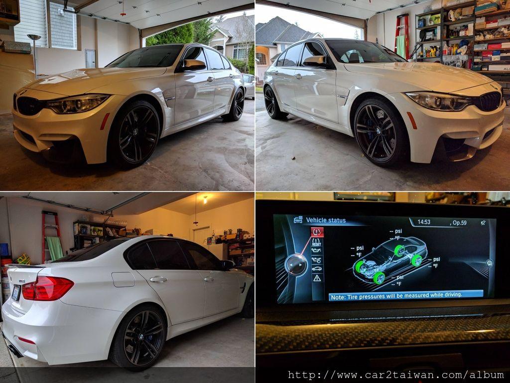 2015年F80 BMW M3在美國私人車庫停放照片,在台灣一台BMW M3 F80新車售價需要495萬起,選配加一下價格超過500多萬台幣,