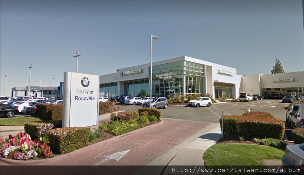 美國加州BMW of Roseville-BMW原廠車商,也是car2tw經常合作買車運回台灣的車商