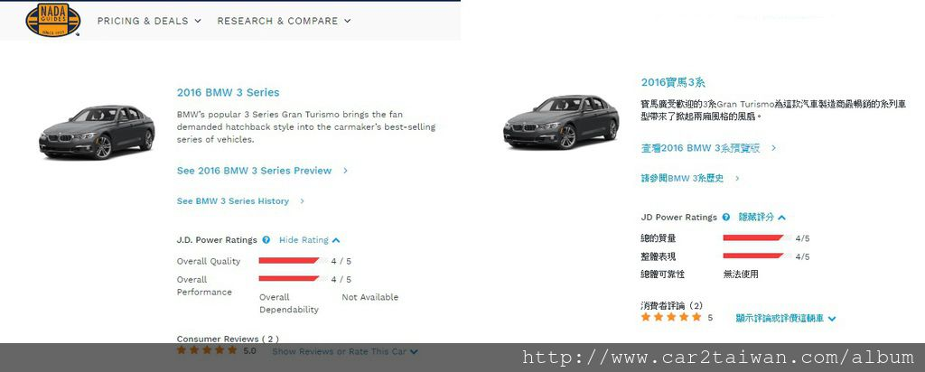 2016 BMW3系列在國外的評價(NAND)