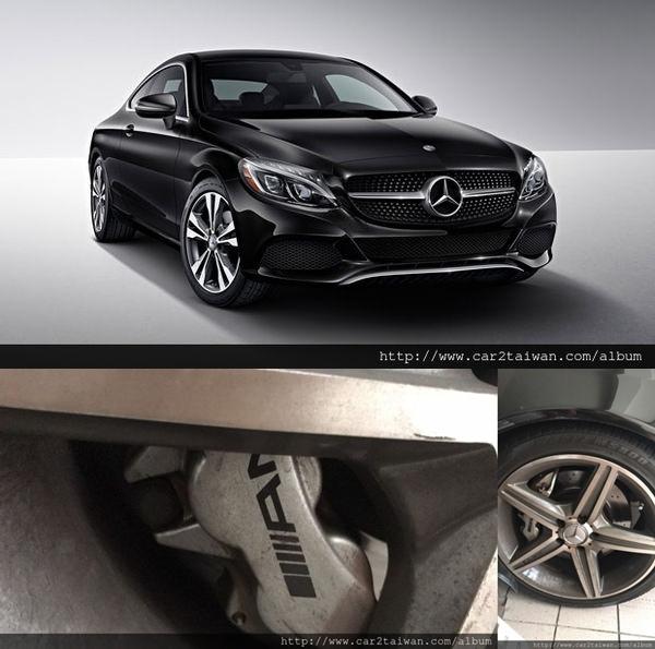 賓士C300 AMG外觀上,摩登簡潔又富侵略性的造型,豪華與跑格的視覺效果兼具,  圓融精煉的曲線強調C-Class的智慧科技感,AMG空力套件,  精確的線條巧妙運用陰影效果達到跑車化印象與不可小覷的操控實力。  軸距增加到 2840mm,車長增到4686mm,車寬增為1810mm,每次大改款都長大不少。  搭配擁有241hp與37.74kgm最大輸出實力的2.0升直列四缸渦輪增壓引擎。