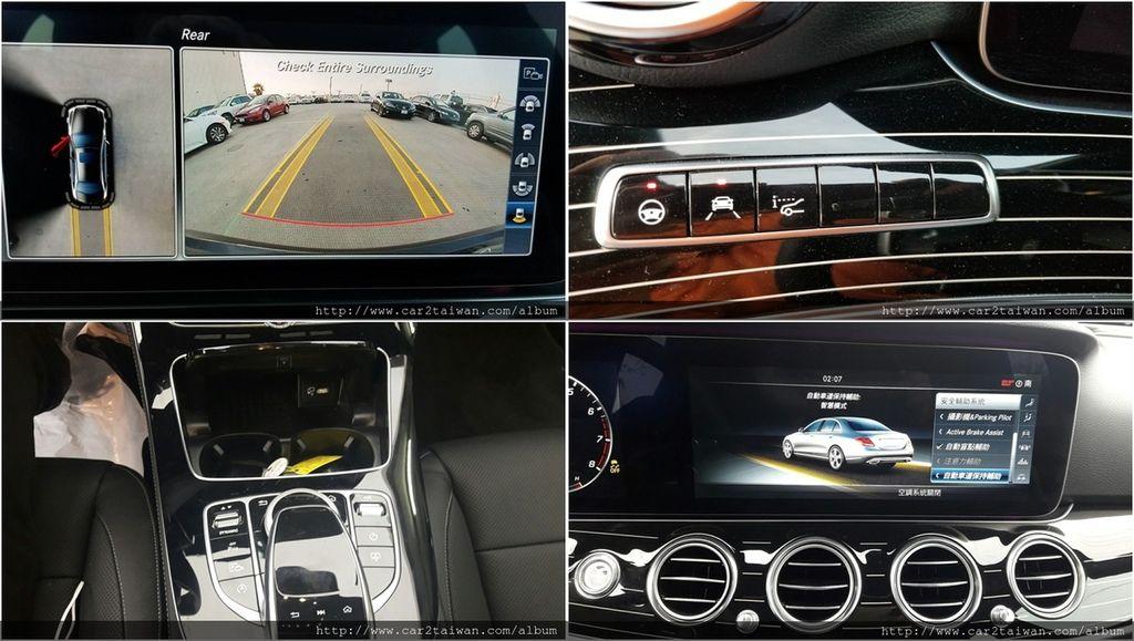 中控螢幕以及儀表板,顯示方式也能夠自訂化設定(E300表現出兼具人性化及科技化)  2017 E300 W213全景天窗,360度全景倒車影像  邱先生當初尋車洽談時很希望有自動煞停系統、跟車系統、車道偏移  (跟車系統之前他在別家車商看的是C300,但需要時間另尋)  然而car2tw提議的17年賓士E300 W213 三個願望一次滿足  COMAND Online 觸控手寫板功能,讓邱大哥可以輕鬆並兼顧安全方的式操控 , 行車模式有四種可以切換,包含經濟、舒適、SPORT、SPORT+