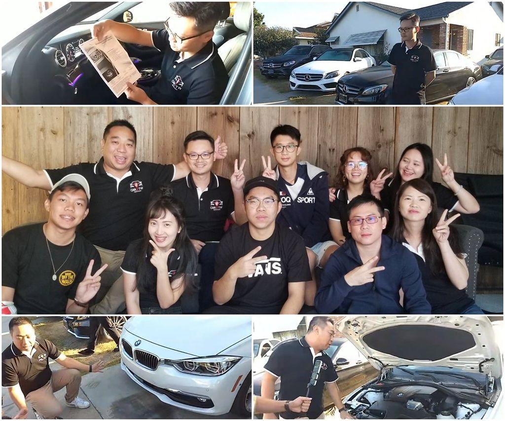 外匯車推薦BMW賓士CPO原廠認證車可以讓台灣買外匯車的朋友有更多一種的選擇外也多一份原廠100多項的檢測的保障, 上圖為Car2TW團隊在美國的合照及Car2TW自辦外匯車教學分享會在美國直播時介紹BMW賓士CPO原廠認證車報告時的照片