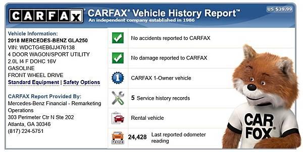 BENZ GLA250 #76138 Carfax.jpg
