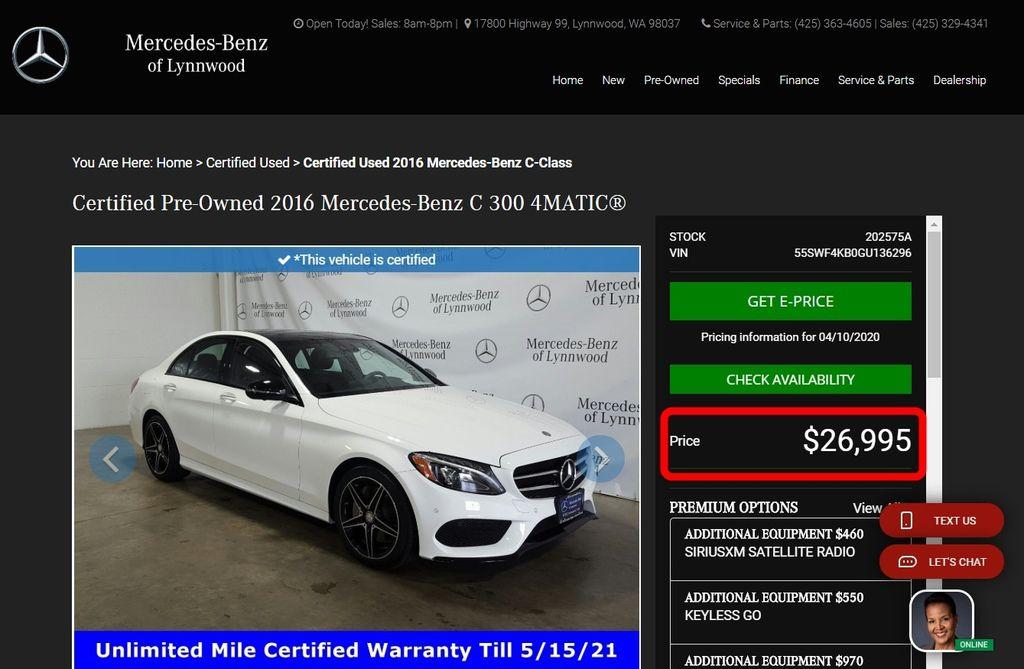 那麼美國BMW賓士車商想少賺一點的前題下Car2TW可以幫你省下多少錢呢? 這台賓士原廠CPO認證車C300 AMG有夜色套件環景雷達自動停車,換在疫情前這家賓士車商從來都是不二價超硬的, 這次Car2TW本來想說現在外頭各行各業都有影響了應該可以來殺殺價, 沒想到Car2TW還沒開口,這家賓士車商直接折價2000美元給Car2TW這是有史以來第一次, 其實也很好理解車商把錢都壓在汽車上,景氣好時買氣旺現金周轉快,每進一台賓士C300或是賓士GLC 300不用1個月就賣出了,壓在汽車的錢再多也不怕, 現在「新冠病毒」衝擊下,這家賓士車商已經關店不能營業快要一個月了,別說有沒有上門是連門都不能開了, 這樣怎麼可能會有收入也就沒有了現金流,沒有現金流了就準備要破產了, 所以Car2TW預期未來美國會有一波買到超划算的價格買到車況不錯CP值爆表的進口車, 最近想要買車的朋友歡迎來參加最新外匯車分享會,Car2TW會分享最新外匯車、進口車相關資訊, 當然也可以來電和Car2TW諮詢看看喔!