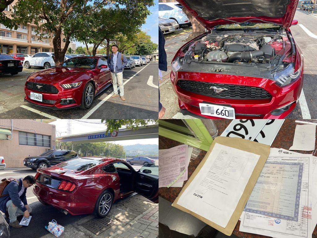 上圖的2017 紅色FORD MUSTANG ECOBOOST COUPE為Car2tw代購回台灣的外匯車,Car2tw今天和這台車的車主王先生一起到監理站領牌囉! 車主3個月前來Car2tw專業外匯車商台灣公司諮詢,想要用預算105萬買一台福特野馬進口車而且最好是紅色的, 代購外匯車的好處就是可以量身來為每一位車友來購買自己喜歡的美國汽車,所以105萬新台幣可以買到FORD MUSTANG ECOBOOST COUPE嗎? 當然可以! 只是里程數爆高而且沒什麼配備,代購外匯車的好處就是不管是黑、白、黃、紅任何顏色都有,想要什麼配備也可以,里程數也有高有低,但是配備越多里程數越低,價格就越不便宜, 最後車主王先生請Car2tw專業外匯車商代辦回台灣的這台2017 紅色FORD MUSTANG ECOBOOST COUPE費用約為145萬。