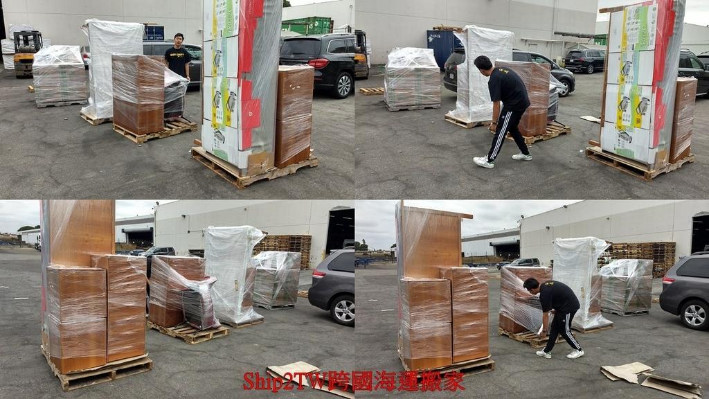 下圖是顧先生從美國鳳凰城跨國搬家到台灣新竹的照片,畢竟住了幾十年,一大堆傢俱行李冰箱電視乾脆都帶回台灣,雖然說跨國搬家費用不便宜,但是那些用了很久的傢俱丟掉也很可惜,送人也沒有人要,乾脆裝一個貨櫃寄送回台灣,整體跨國搬家費用約$3000元美金,也比預料中便宜一些,時間大約兩個月左右就到台灣了,搬家公司很細心的上門打包行李,在台灣也很細心的組裝傢俱,順利完成跨國海運搬家及運車兩項艱巨工程。