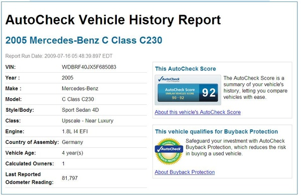 2005 Mercedes-Benz C230 silver DMV history report.JPG