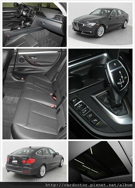 2014年出廠BMW328-GT豪華版15年式, BMW原廠認證車,里程:3萬mi,售價:155萬。配備:HID頭燈、全景天窗、NBT系統大螢幕、環境系統、電動尾門、Keyless、免鑰匙開門發動、原廠導航、運動式方向盤附換檔撥片。