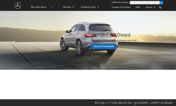 美國Benz原廠認證中古車網站