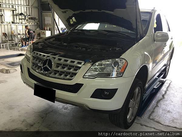 LA保養日誌M-Benz ML350回廠保養。買賣外匯車推薦建議LA桃園車庫,買賣中古車估價推薦建議請找LA桃園車庫。