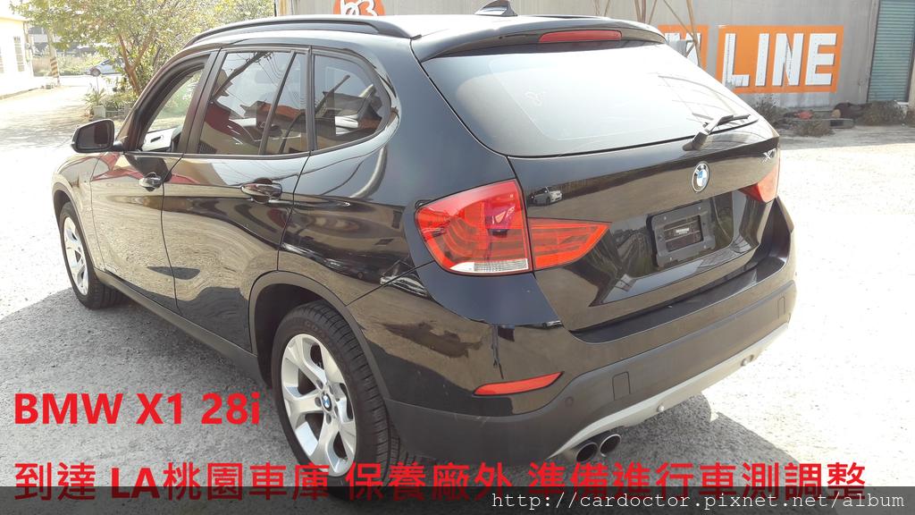 BMW X1 於保養廠外 進行車測調整