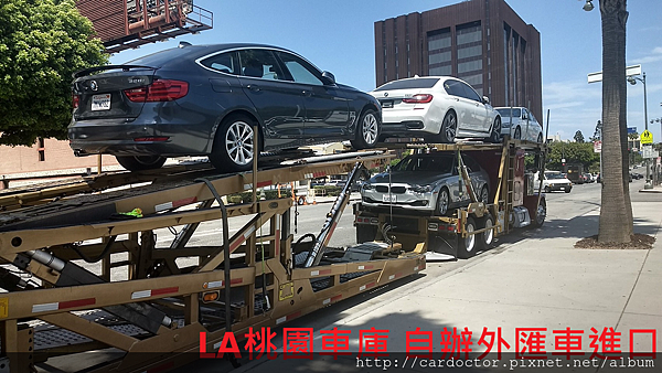 BMW X1 自辦外匯車進口上拖車照片