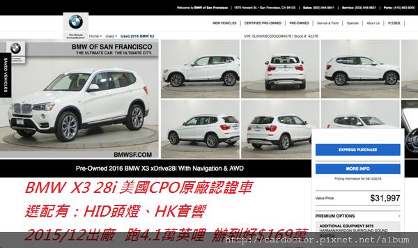 BMW F25 X3 28i價格分析及如何團購買到物超所值外匯車BMW F25 X3 28i性能馬力規格選配介紹及評價 ,BMW F25 X3 28i進口車代辦回台灣費用超便宜