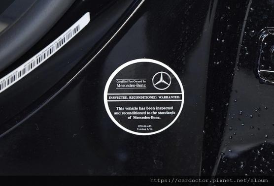 CPO認證貼紙,有此貼紙代表這部車已通過CPO檢驗標準