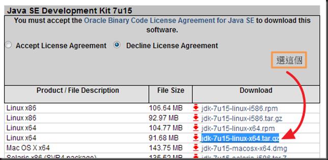 1、選擇 Java