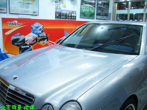 賓士E210藍色汽車玻璃搭配SUPER-G12隔熱紙
