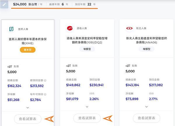 iMarket儲蓄險市集 - 篩選結果.jpg