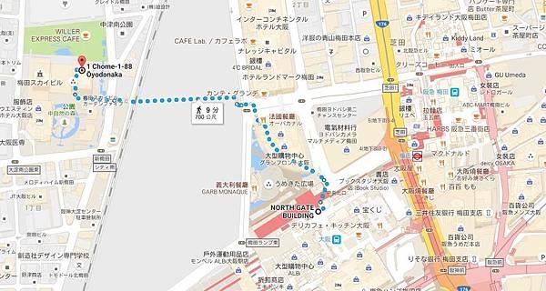 路線從JR大阪站-JR大阪站中央北口開始.JPG