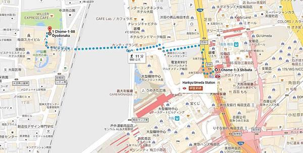 路線從地鐵禦堂筋線梅田站從地鐵禦堂筋線梅田站5號出口.JPG