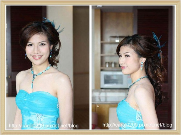 結婚藍色禮服