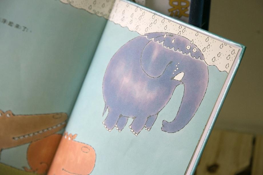 小象的雨中散步