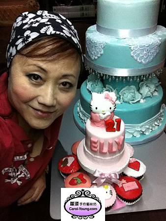 蘿漾客製四吋蛋糕+八個杯子蛋糕組合