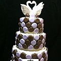 蘿漾客制豪華結婚蛋糕模型-2012010-天鵝馬卡龍