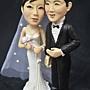 蘿漾客製結婚公仔高25cm左右+結婚一周年紀念蛋糕(6翻糖裝飾)