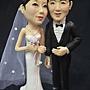 結婚公仔高25cm左右+結婚一周年紀念蛋糕(6翻糖裝飾)
