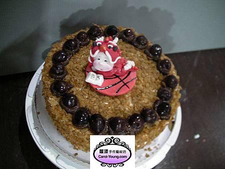 """蘿漾龍寶寶生日蛋糕8""""巧克力戚風碎片櫻桃"""