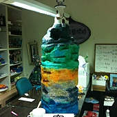 海底世界燈塔+海底岩石