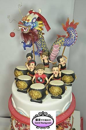 蘿漾人型創意蛋糕-陣頭+舞龍