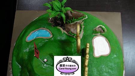 蘿漾客製26吋創意造型蛋糕-高爾夫球場